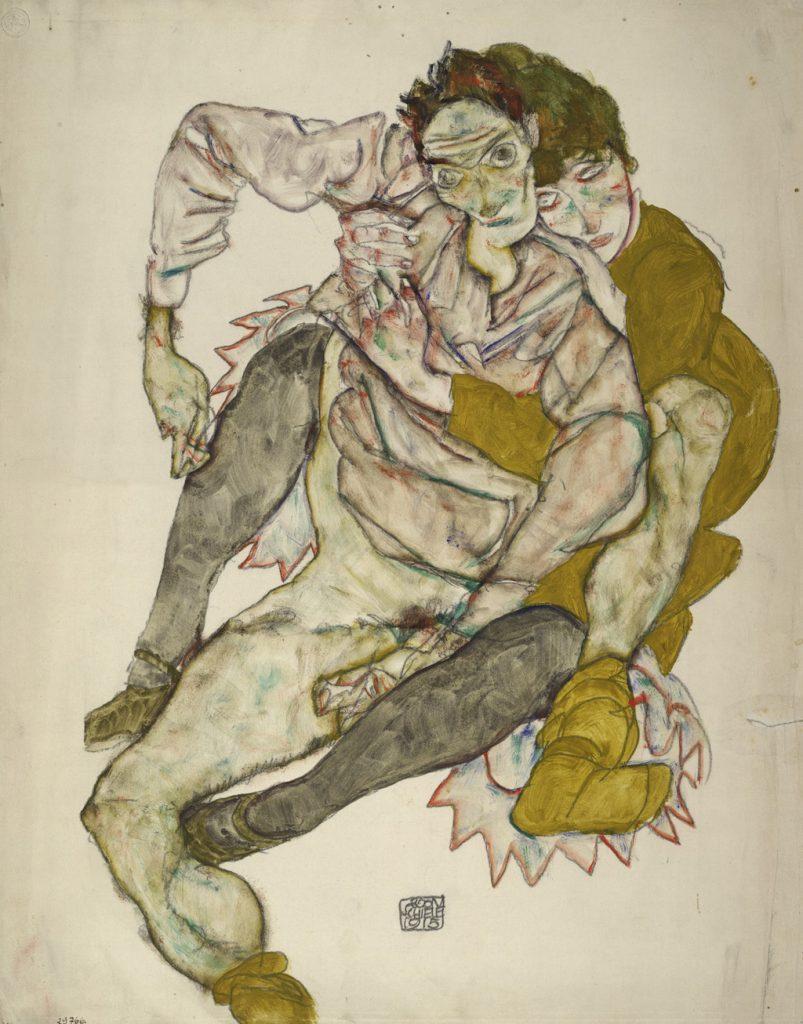 Egon Schiele Seated Couple, 1915 Albertina, Vienna