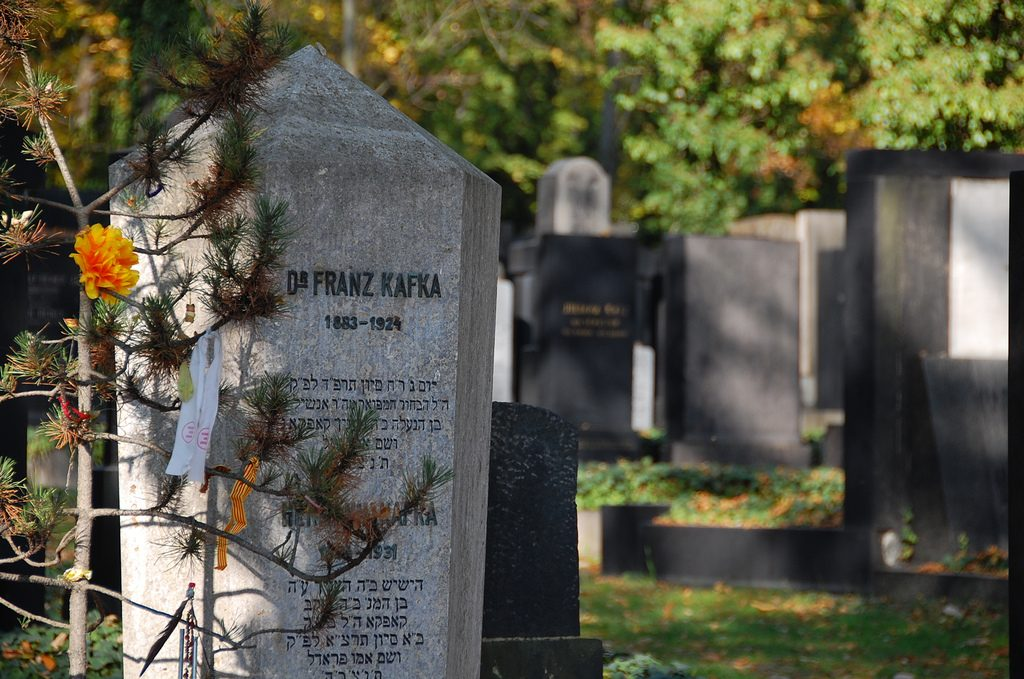 Franz Kafka's grave in the Jewish Cemetery | LWYang / Flickr