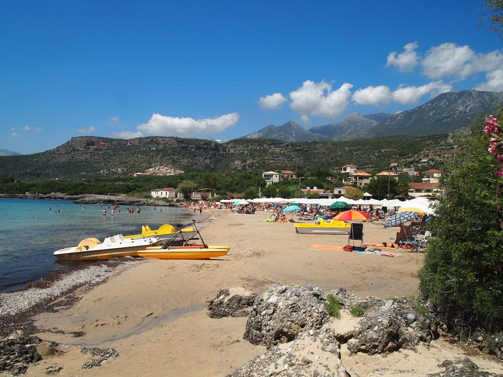 The peaceful beaches of Stoupa CC0 Pixabay