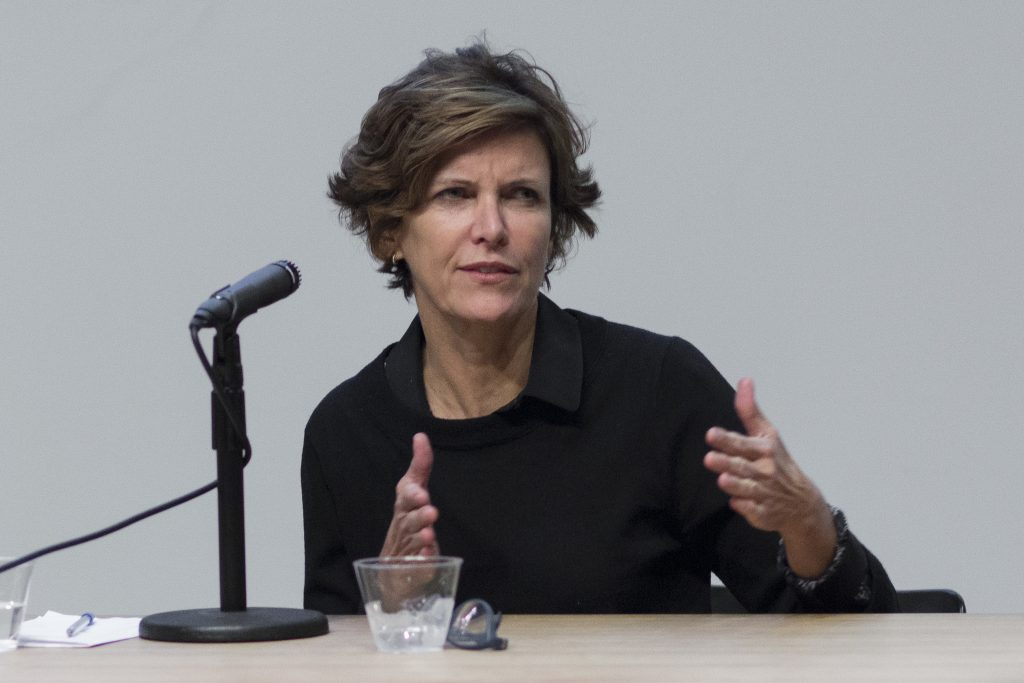 Jeanne Gang talking at Columbia College in 2015 | © Columbia GSAPP / Flickr