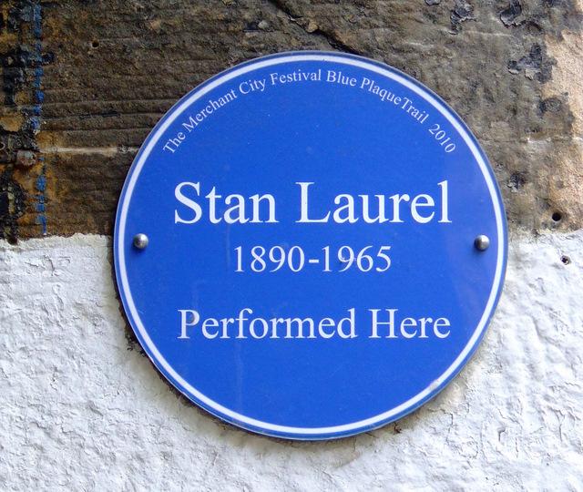 Stan Laurel Plaque Outside Britannia Panopticon   © Thomas Nugent/Geograph