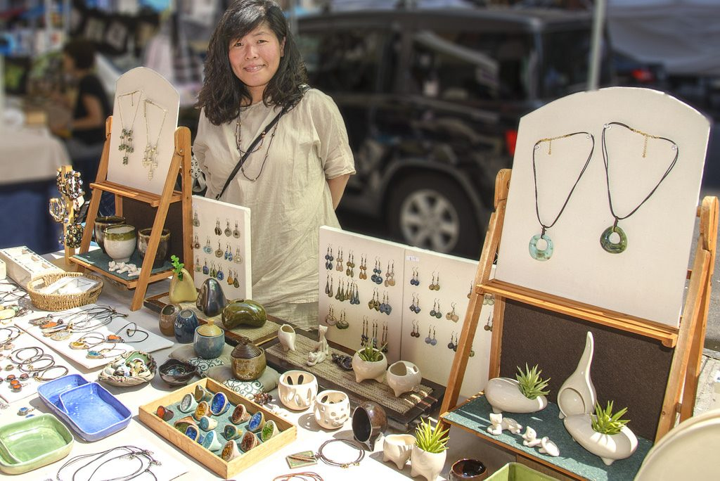 Yoshimi Tanaka, jewelry and pottery | © Rebecca MB. Pearson