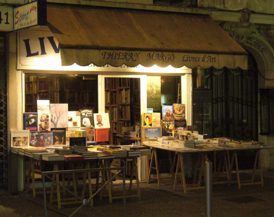 The Thierry Margo bookstore in Nice