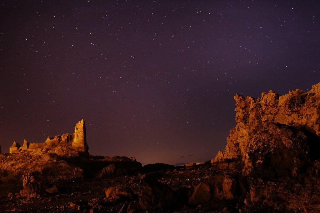 Stars Above Dunure Castle   © grayeme / Flickr