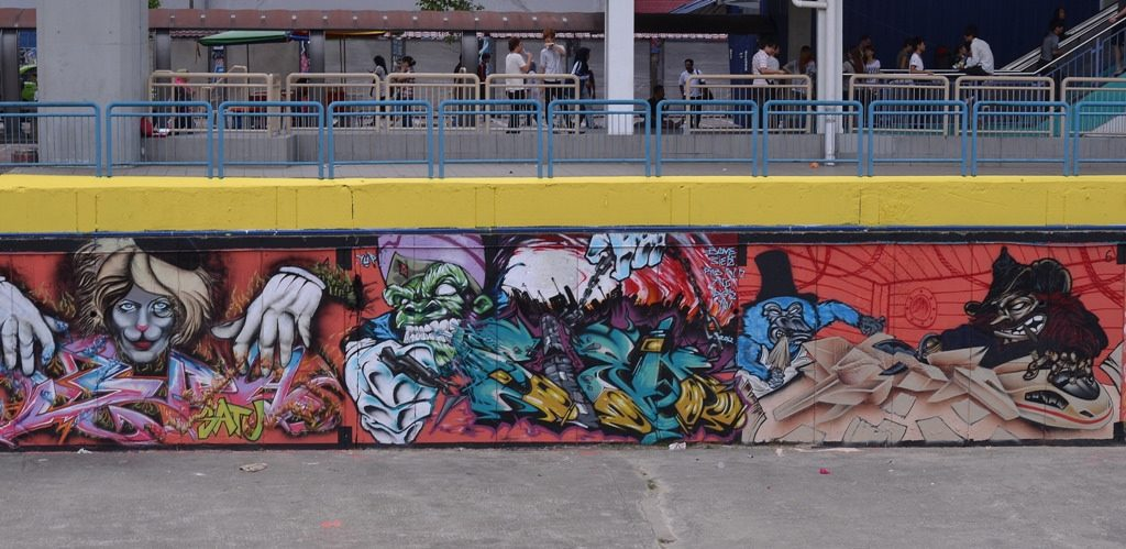 Urban art along Klang River   © John Ragai / Flickr