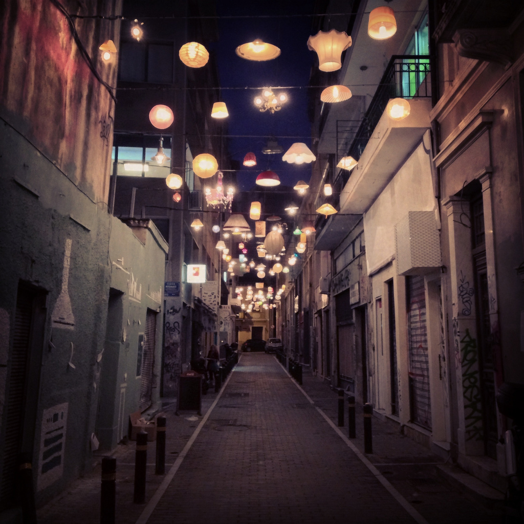 Welcome To Pittaki Street Athens Magical Lantern Lit Alley