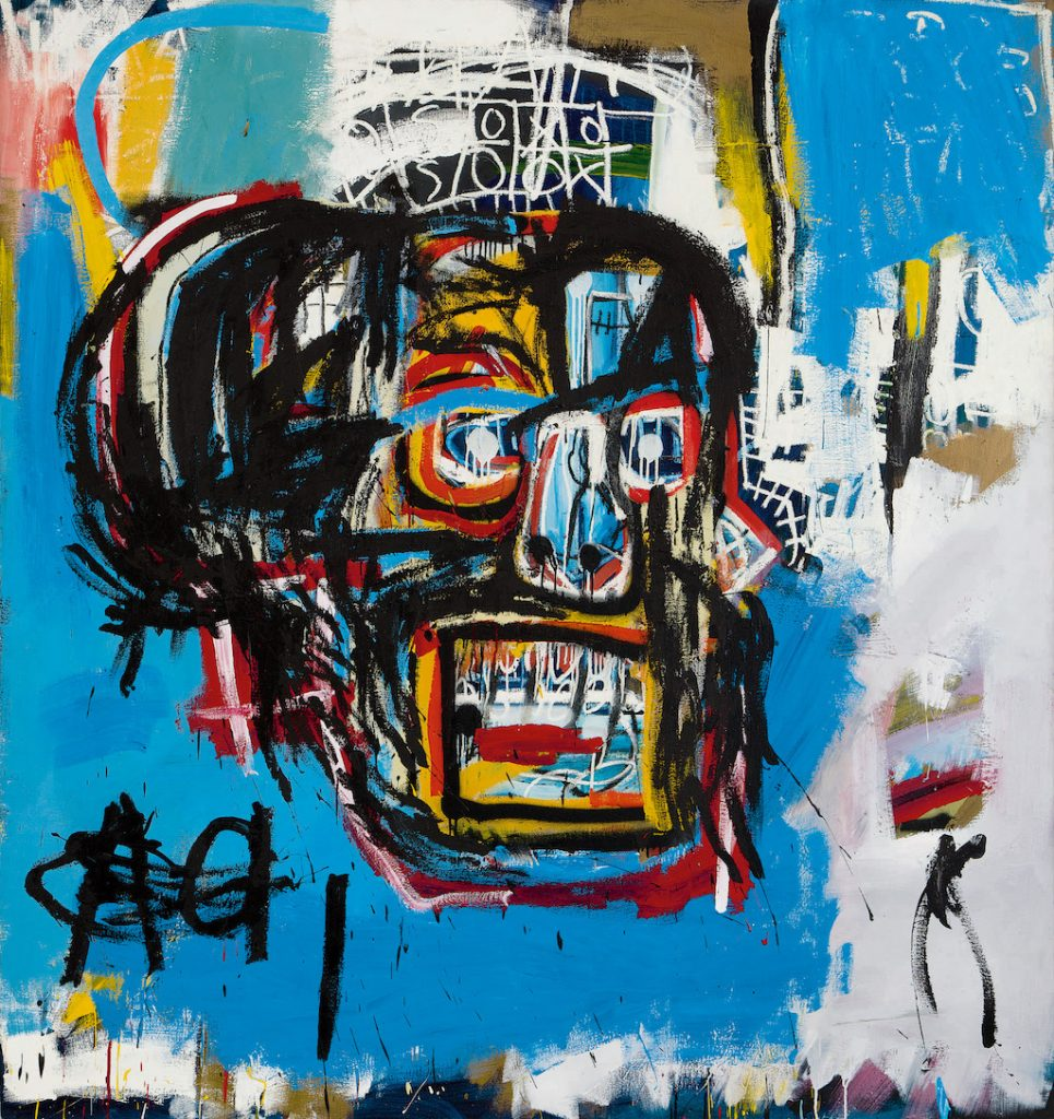 Jean Michel-Basquiat, Untitled, signed, inscribed NYC and dated 82 on the reverse. Acrylic, spray paint and oilstick on canvas© 2017 The Estate of Jean-Michel Basquiat / ADAGP, Paris / ARS