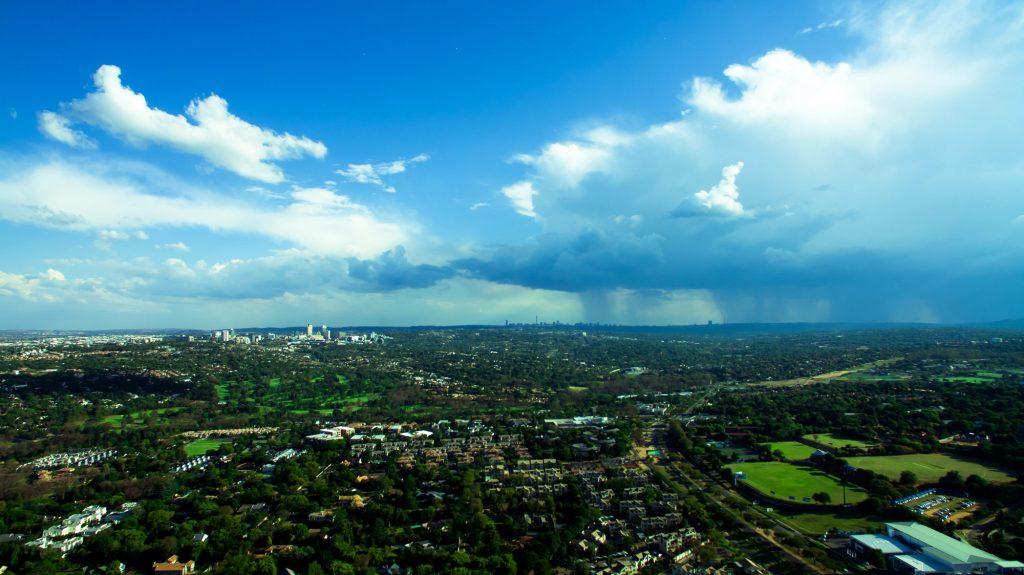 Bird's eye view of Johannesburg