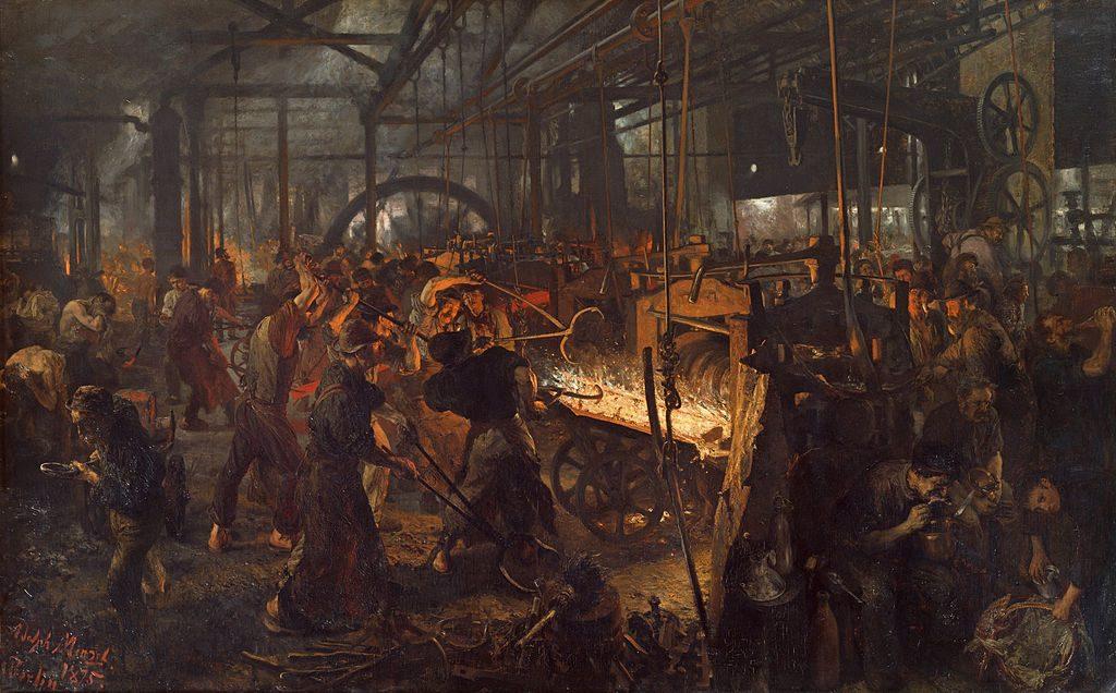 Eisenwalzwerk | Adolph von Menzel / Wikimedia Commons