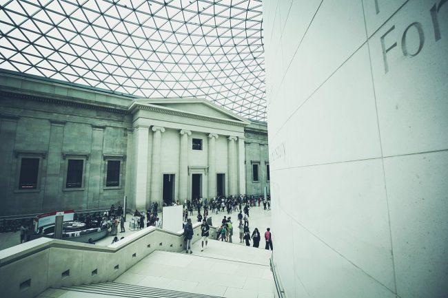 British Museum inside courtyard