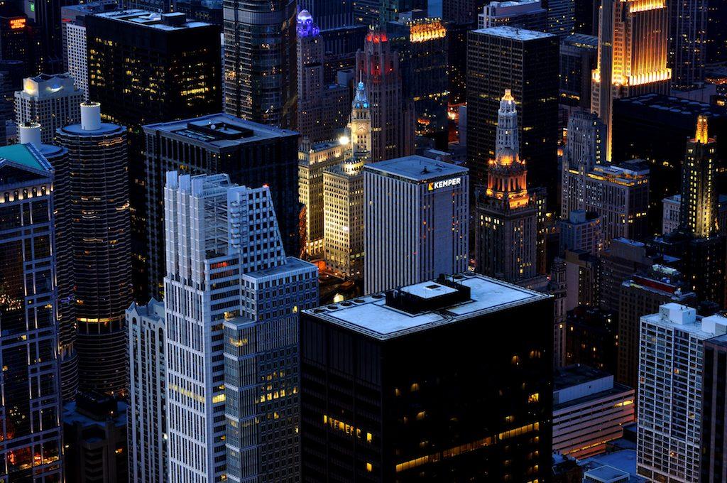 The densely packed area around the Chicago River   © Alex Shutin/Unsplash