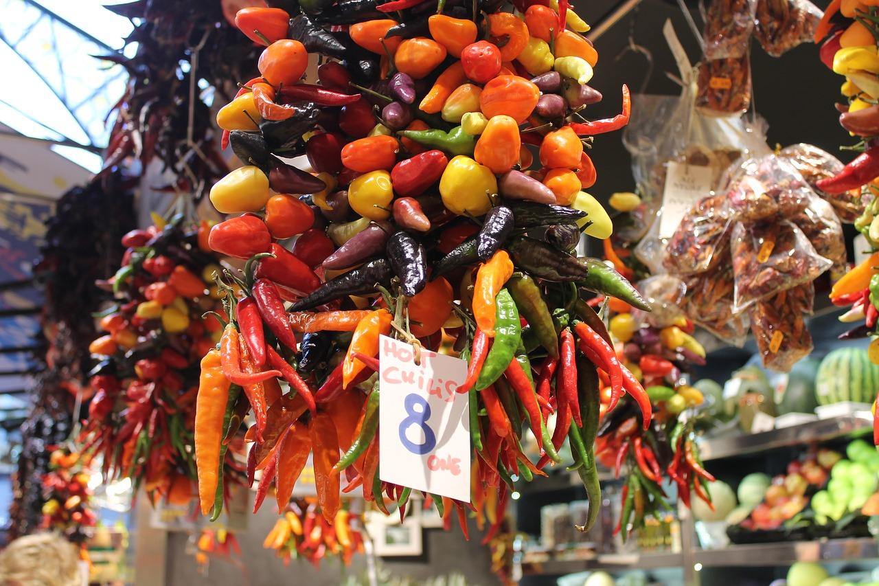 The stalls of the Boqueria market CC0 Pixabay