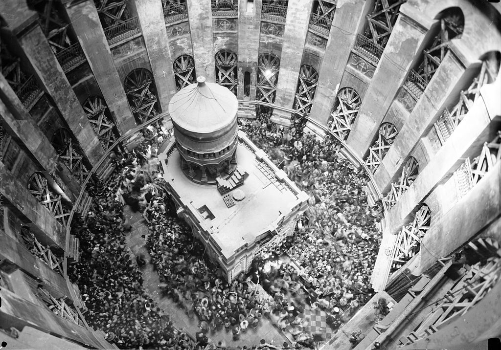 Church of the Holy Sepulchre in Jerusalem's Old City in 1941 as seen from its dome | Matson Photo Service / Wikimedia Commons