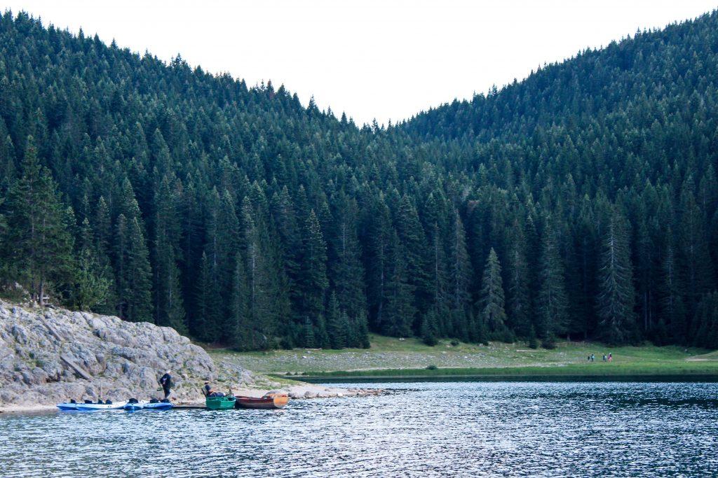 Gavin Greene   Canoes on Black Lake, Durmitor National Park