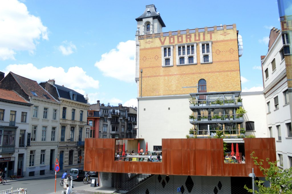 Sint-Pietersnieuwstraat and culture center De Vooruit | Courtesy of Visit Ghent