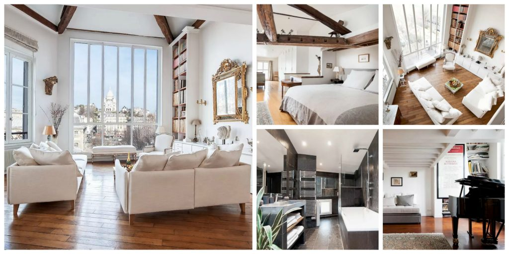 Duplex loft with spectacular views of Montmartre │© Courtesy of Chris / Airbnb