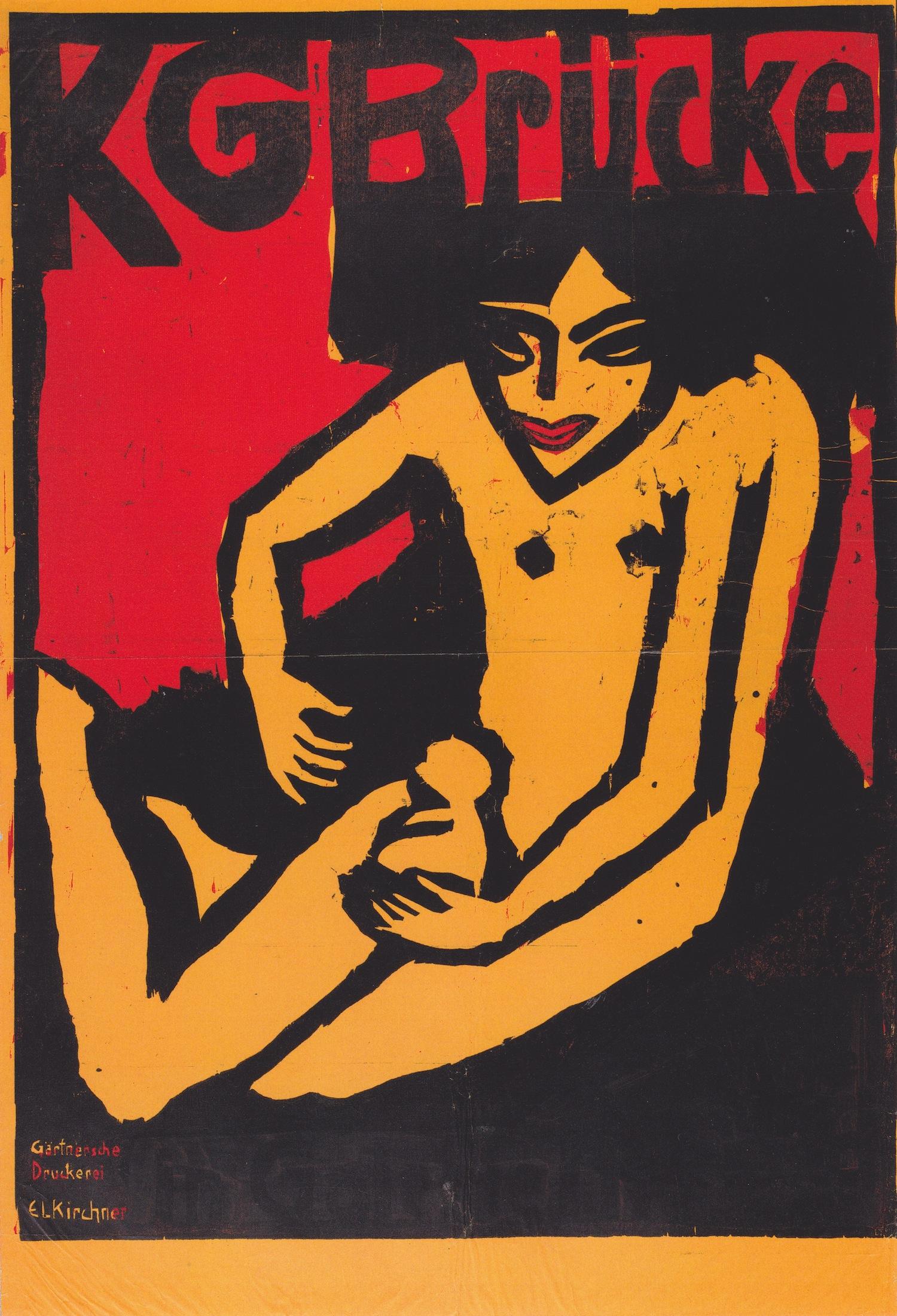 Ernst Ludwig Kirchner, member of Die Brücke art group,