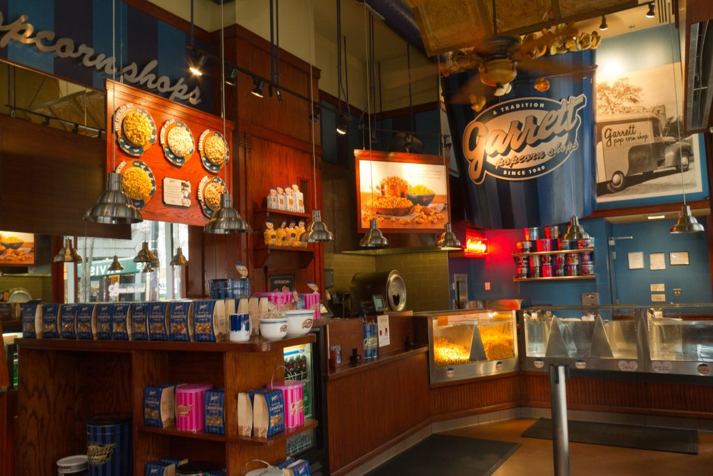 N Michigan Ave flagship store interior | Courtesy of Garrett Popcorn Shops