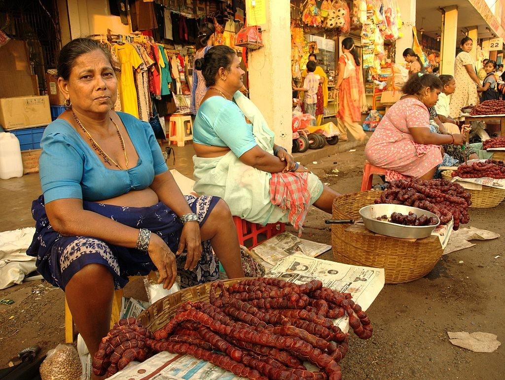 Goan sausages for sale at Mapusa Market | © Fredericknoronha/WikiCommons