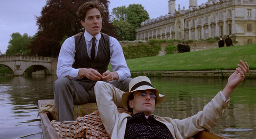 Hugh Grant (left), with Mark Tandy as Viscount Risley | © Cohen Media Group