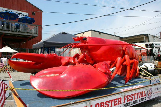 Rocky the giant lobster | Courtesy of the Maine Lobster Festival