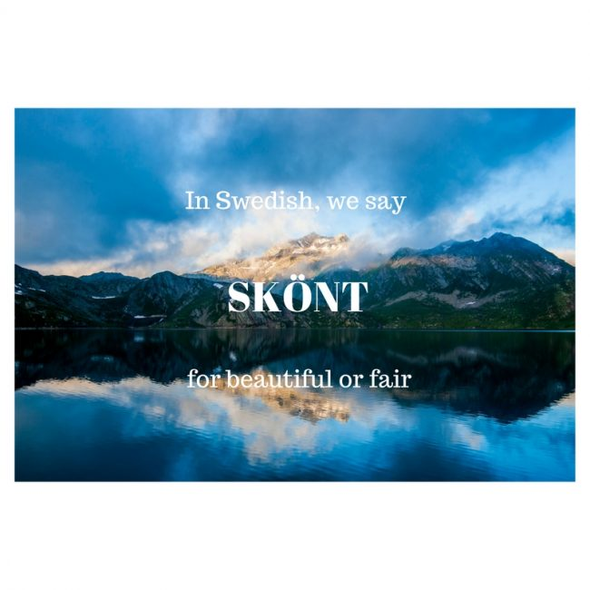 Swedish For Beautiful