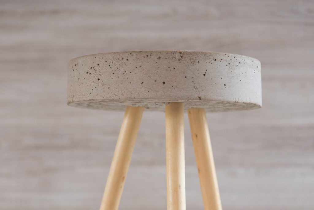 Concrete stool by Knot Design