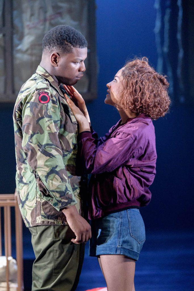 John Boyega as Woyzeck, Sarah Greene as Marie | © Old Vic