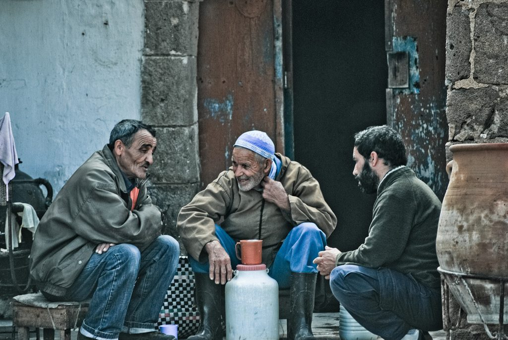 Men chatting in Morocco