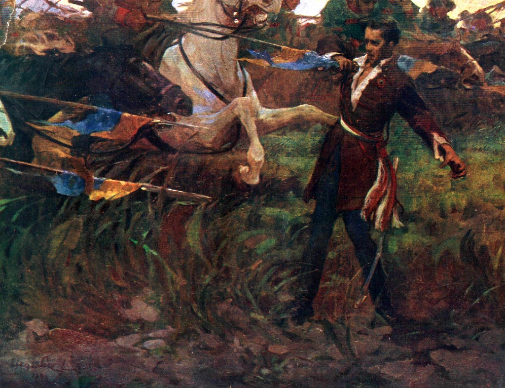 Painting of the death of Sandor Petofi