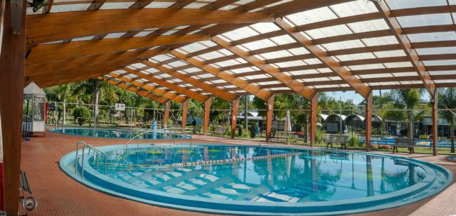 Indoor pool at Termas del Daymán, near Salto, Uruguay