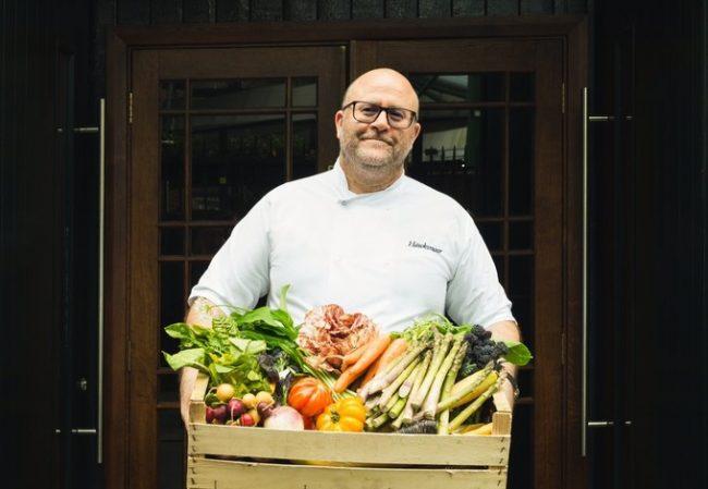 Richard Turner with a selection of British seasonal produce | © Hawksmoor