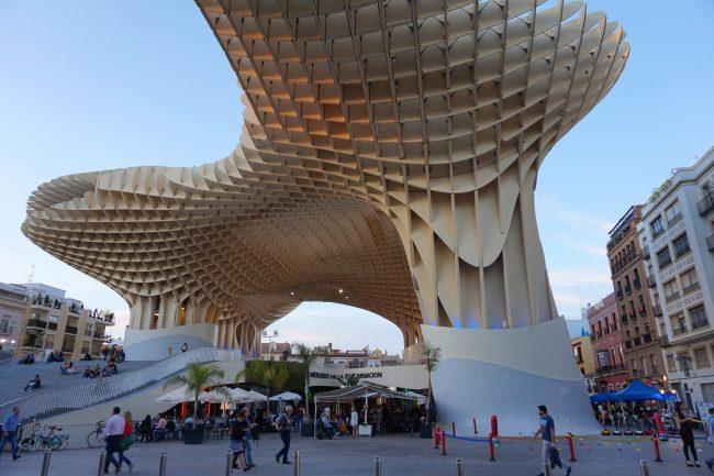 Seville's giant wooden mushrooms | © Encarni Novillo