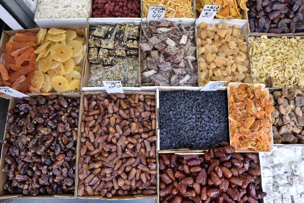 Dry fruits in Levinsky market in Tel Aviv Israel | © Mario Troiani/Shutterstock