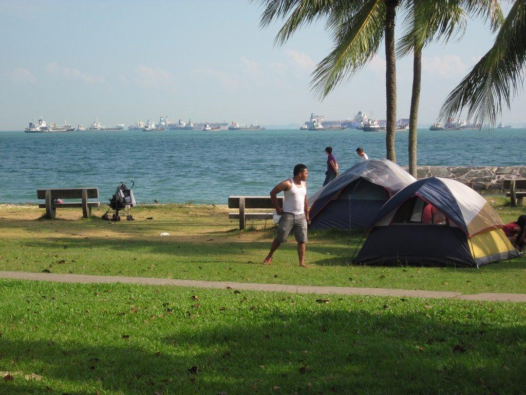 Singapore East Coast Park Camping Tent KenMarshall