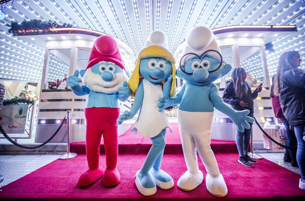 Papa Smurf, Smurfette and Brainy Smurf | © Eric Danhier / courtesy of visit.brussels