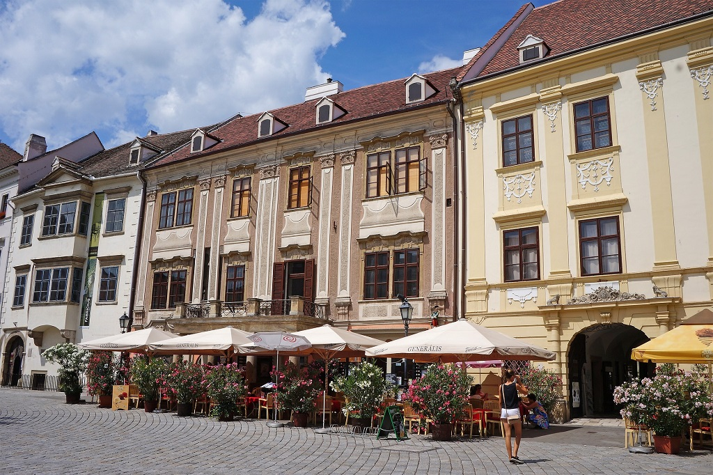Street in Sopron, Hungary