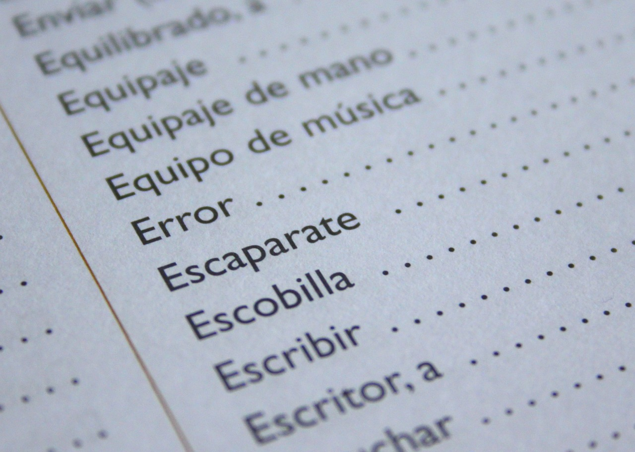 "<a href=""https://pixabay.com/en/spanish-language-error-learn-speak-761512/"">Spanish words 