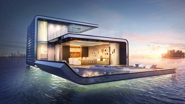 You Can Now Live Underwater In Dubais Amazing Floating Villas - These amazing floating villas have underwater bedrooms