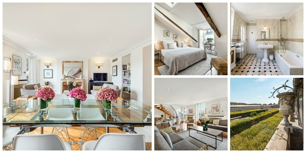 Three-bedroom apartment overlooking the gardens of the Palais Royal │© Alexandre / Airbnb