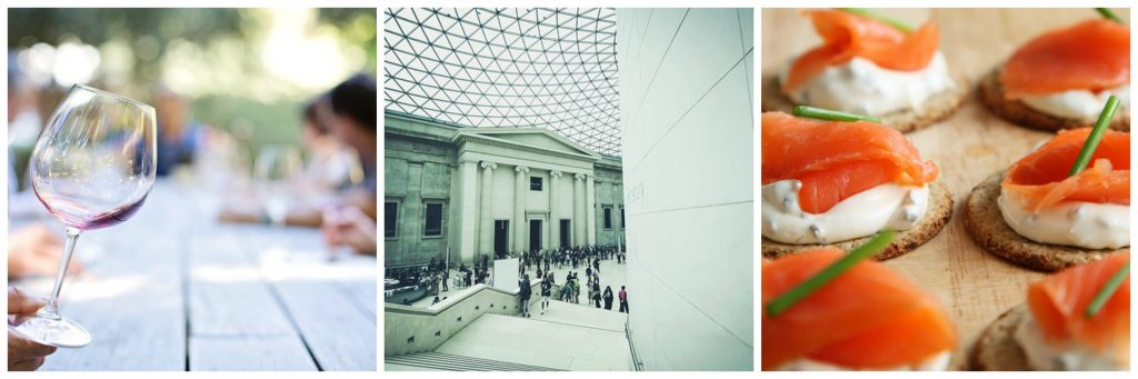 Wine, British Museum, canapes