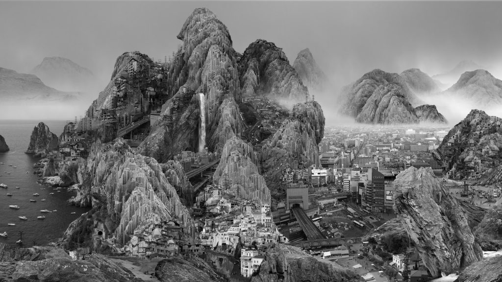 Yang Yongliang, Endless Streams, 2017   © Yang Yongliang/Courtesy of Mathew Liu Fine Arts (Shanghai)