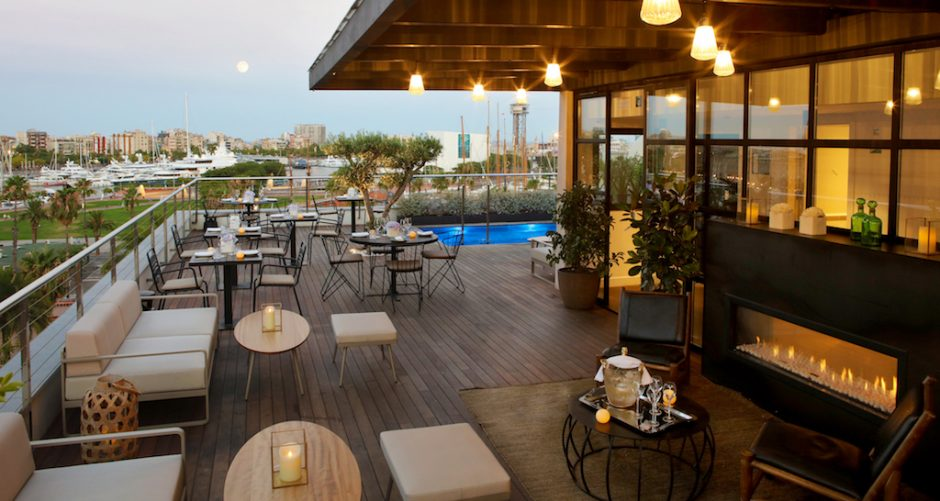 The Serras rooftop and pool