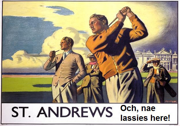 Historic Golf Poster In St Andrews | © Mike Licht/Flickr