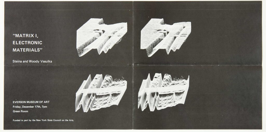 1976 Exhibition Flyer | Courtesy of The Vasulka Chamber