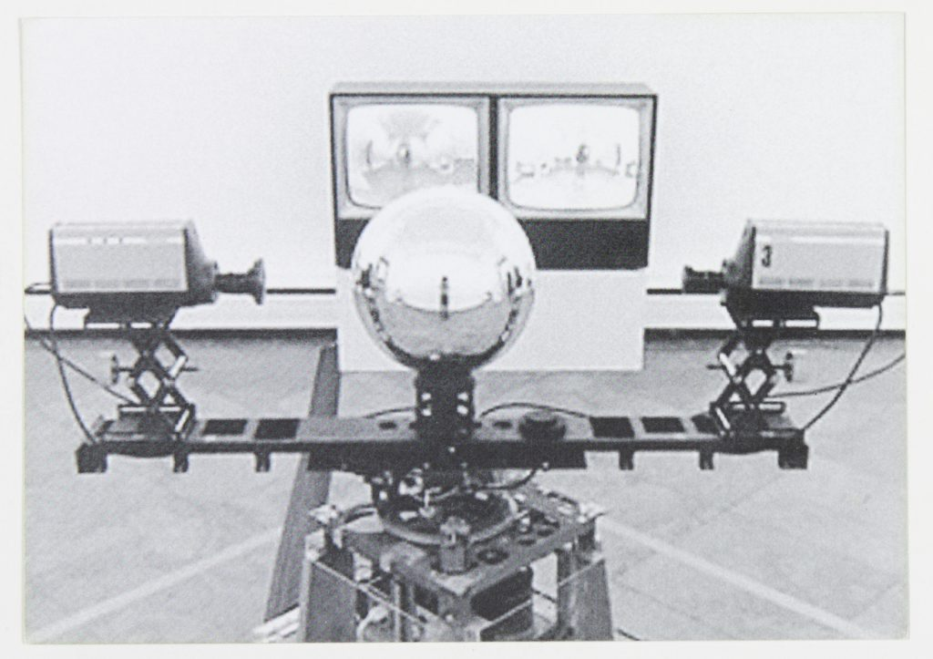 """""""Machine Vision,"""" Steina Vasulka, 1976, Exhibition view at Albright-Knox Gallery 