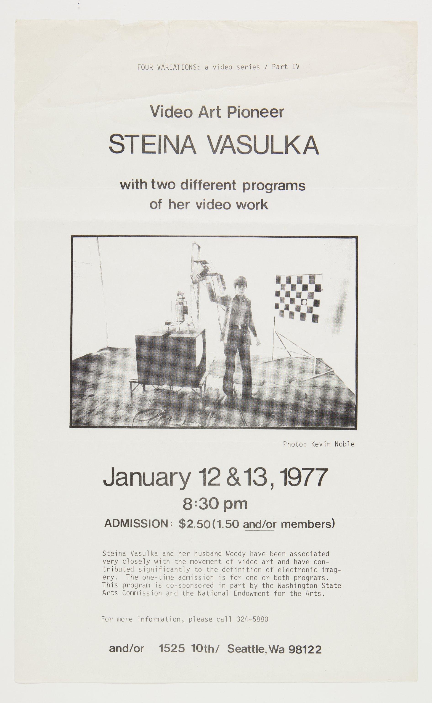 1977 Exhibition Catalogue | Courtesy of The Vasulka Chamber