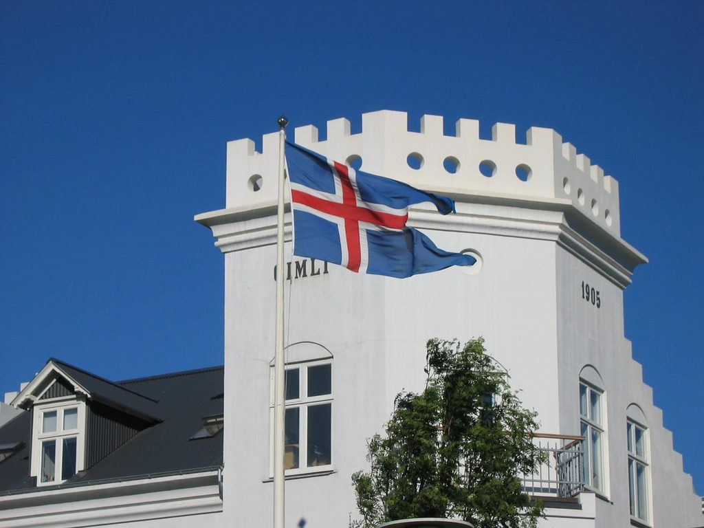a flag waving in Reykjavik on National Day (June 17) | © Jennifer Boyer/Flickr