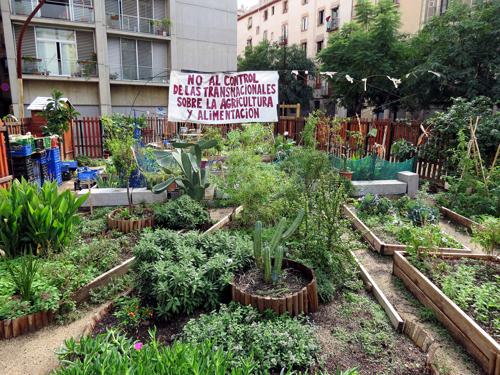 "<a href=""https://www.flickr.com/photos/31290193@N06/8294935047/"">A community garden in Barcelona © Justin Pickard/Flickr</a>"