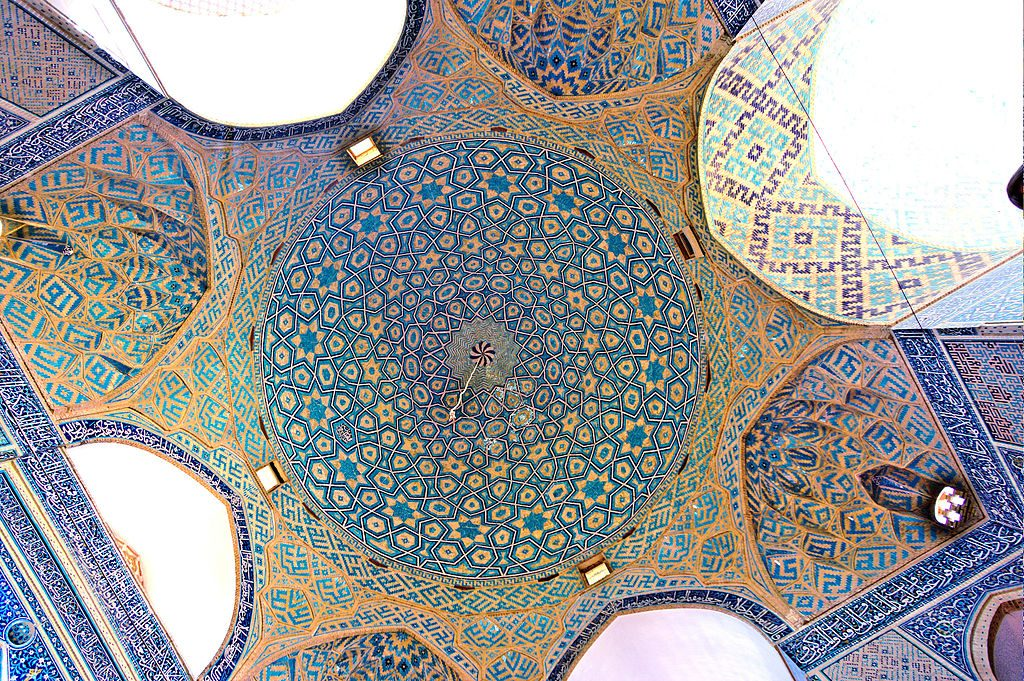 Jameh Mosque ceiling and detail | © Erik Albers / Wikimedia Commons